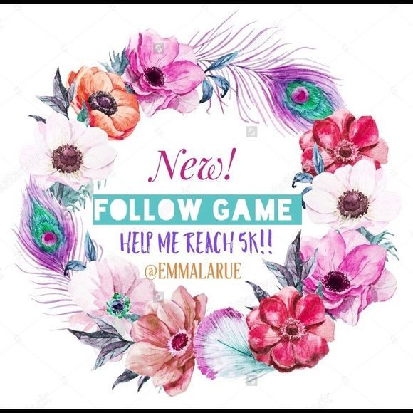 ✌Follow Game!! ✌️ Like this post, then follow me and everyone else that likes this post- tag your friends and pffs! Share share share!!! Let's grow together!!!! Free People Other