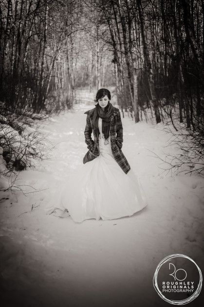 Edmonton Winter Wedding   I like this idea...maybe using a flannel shirt/jacket as inside joke...