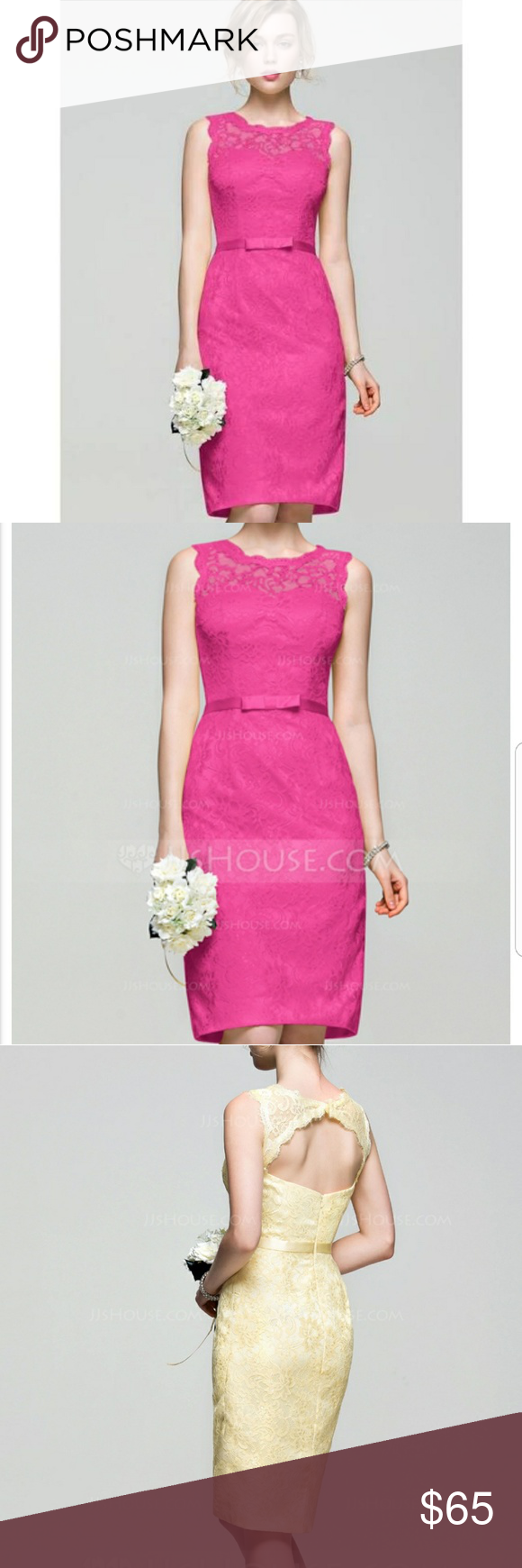 💖 jj\'s house pink lace sheath dress 💖 | Lace sheath dress, Columns ...