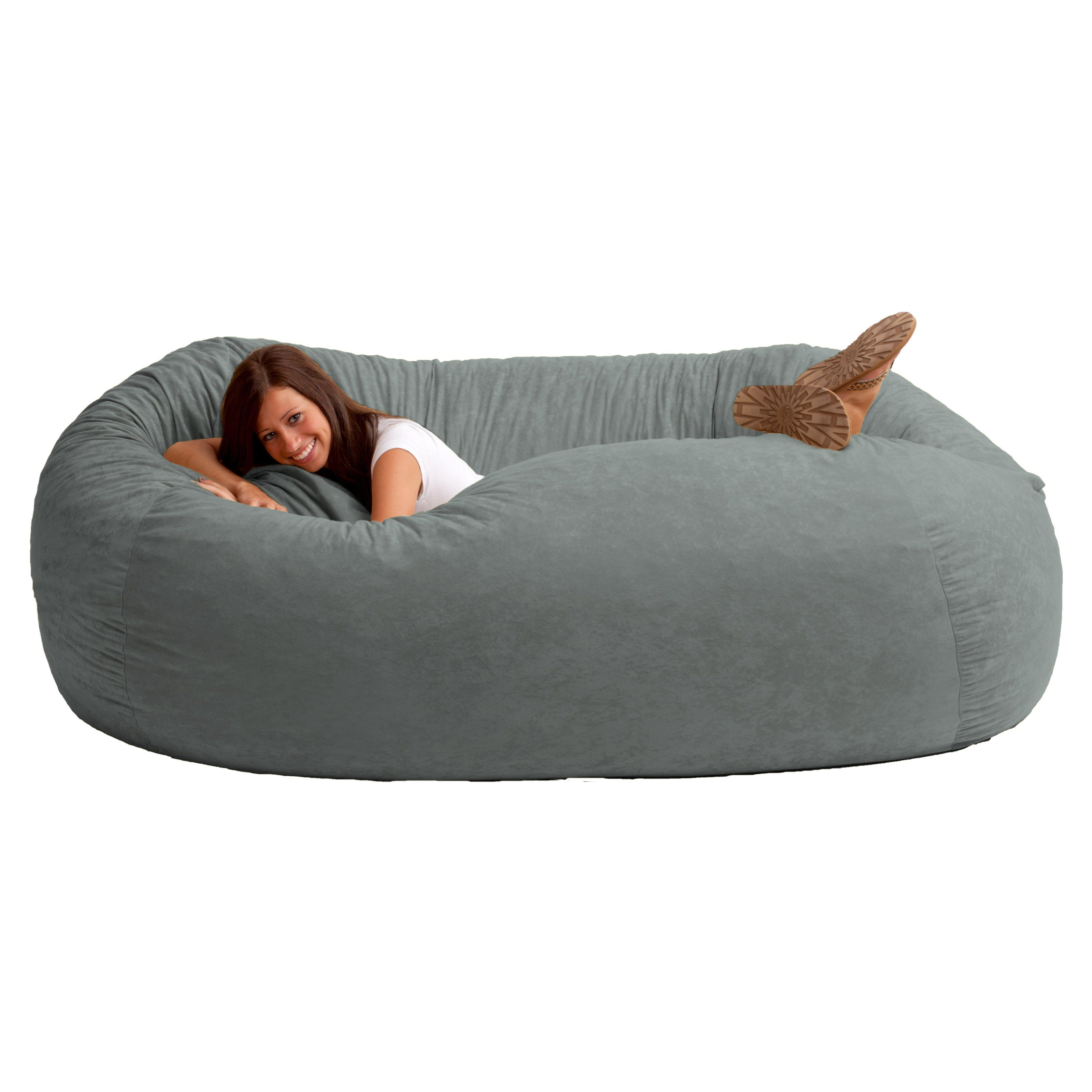 Bon Gonna Get Started Early On My Christmas List For Next Year... ... FUF 7 Ft.  XXL Comfort Suede Bean Bag Sofa | From Hayneedle.com