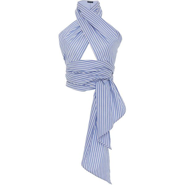 8c571251ecc3 MDS Stripes Oxford Striped Everything Scarf ( 145) ❤ liked on Polyvore  featuring accessories