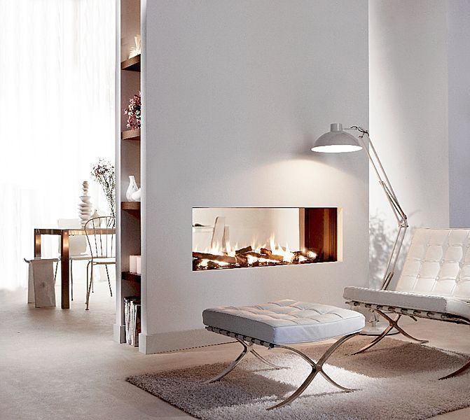 MODERN 2 SIDED FIREPLACE - Google Search | Fireplaces | Pinterest ...