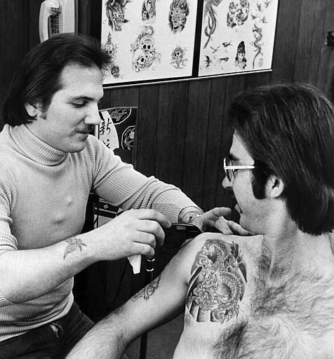 Chicago tattoo company 1970s turtleneck old for Chicago tattoo piercing co