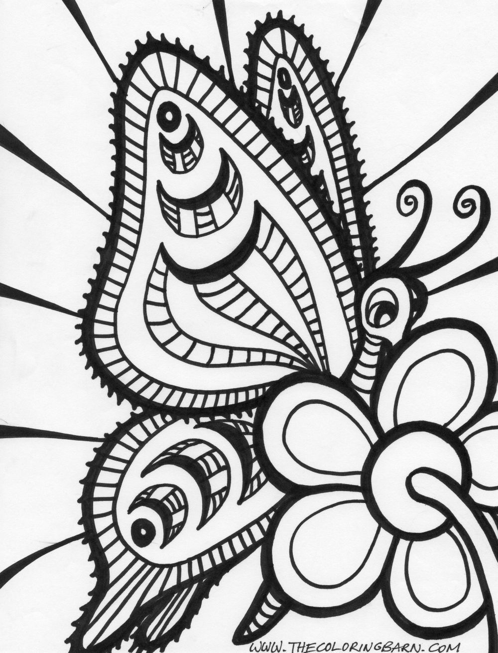 Butterfly Coloring Page | Randoms | Pinterest | Colorear, Mandalas y ...