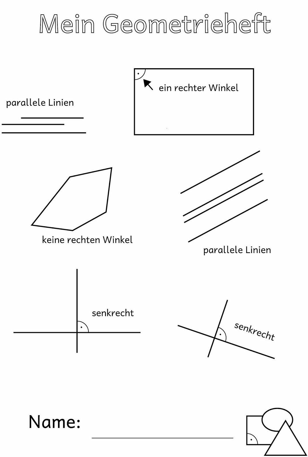 Lernstübchen: parallel, senkrecht und der rechte Winkel | School ...