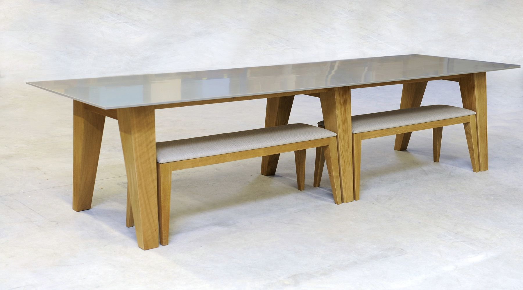 Table made of #HIMACS, produced by mjiila and designed by Olivier Moravik. #Furniture #Design.