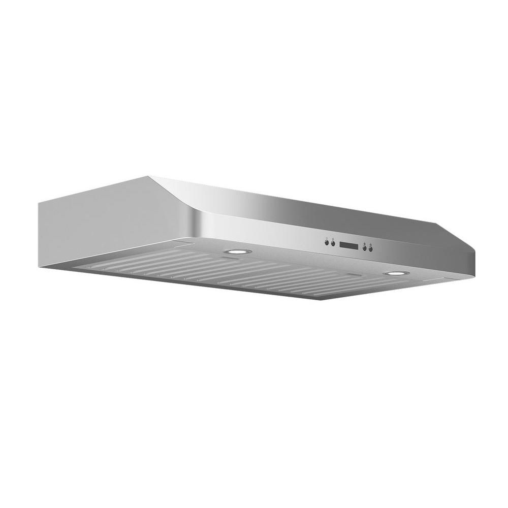 Ancona Slim Chef 30 In Under Cabinet Range Hood In Stainless Steel An 1264 The Home Depot Range Hood Under Cabinet Range Hoods Ancona