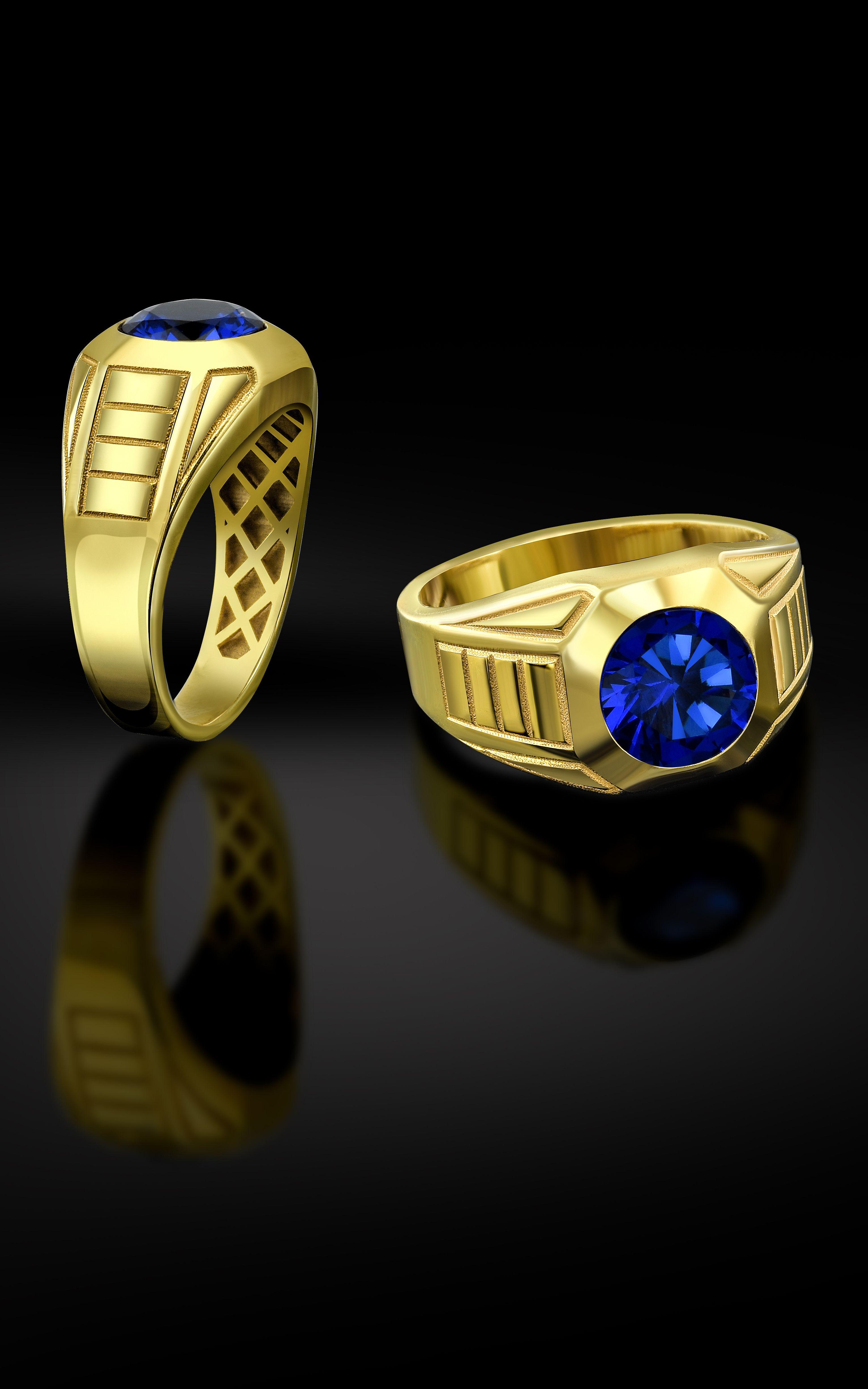 b35d99d7ba3ee Gold Round Men Ring, 14K Gold Men Ring, 18K Gold Men Rings, Man ...
