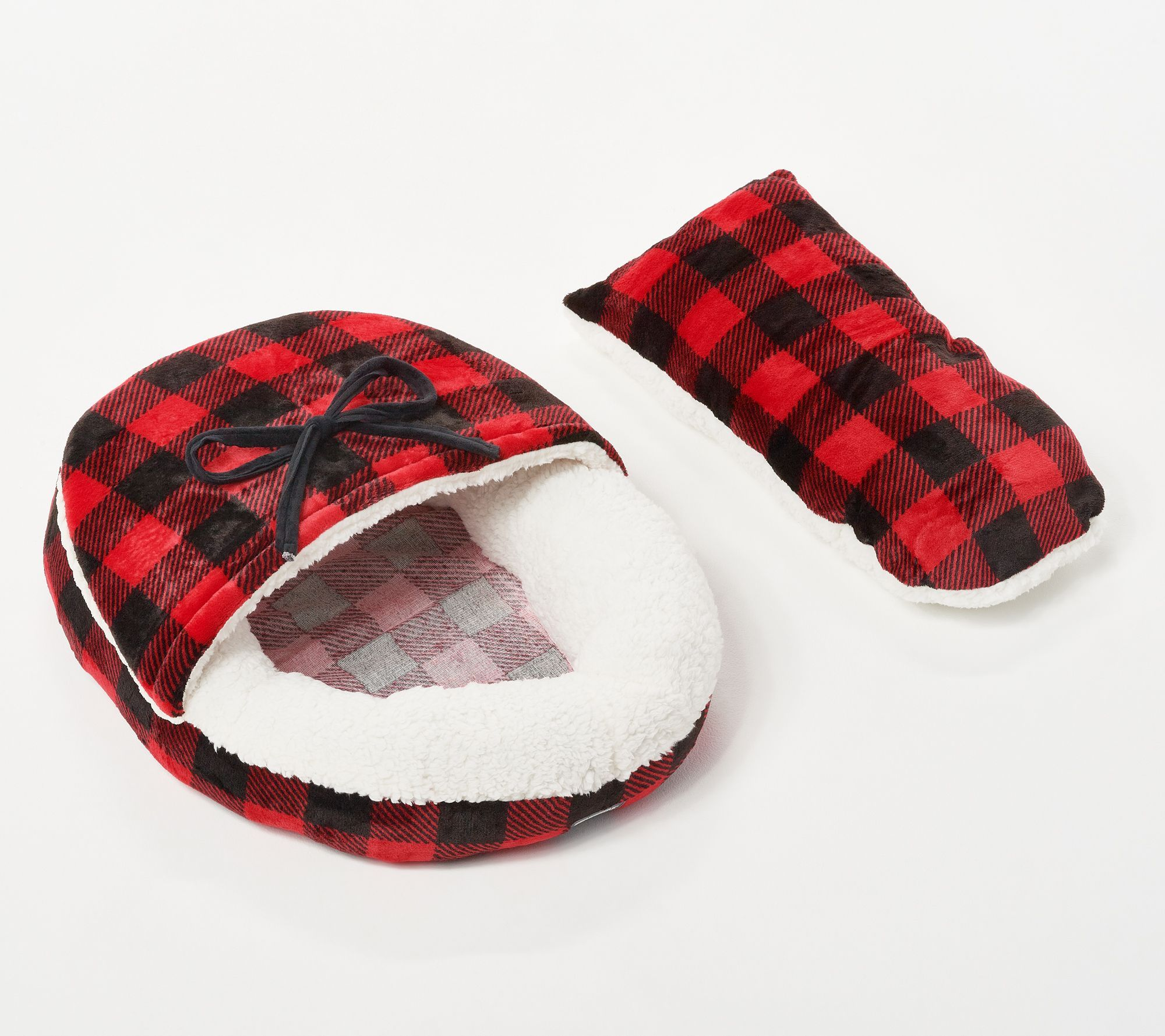 Berkshire Small Cozy Moccasin Slipper Pet Bed Moccasins