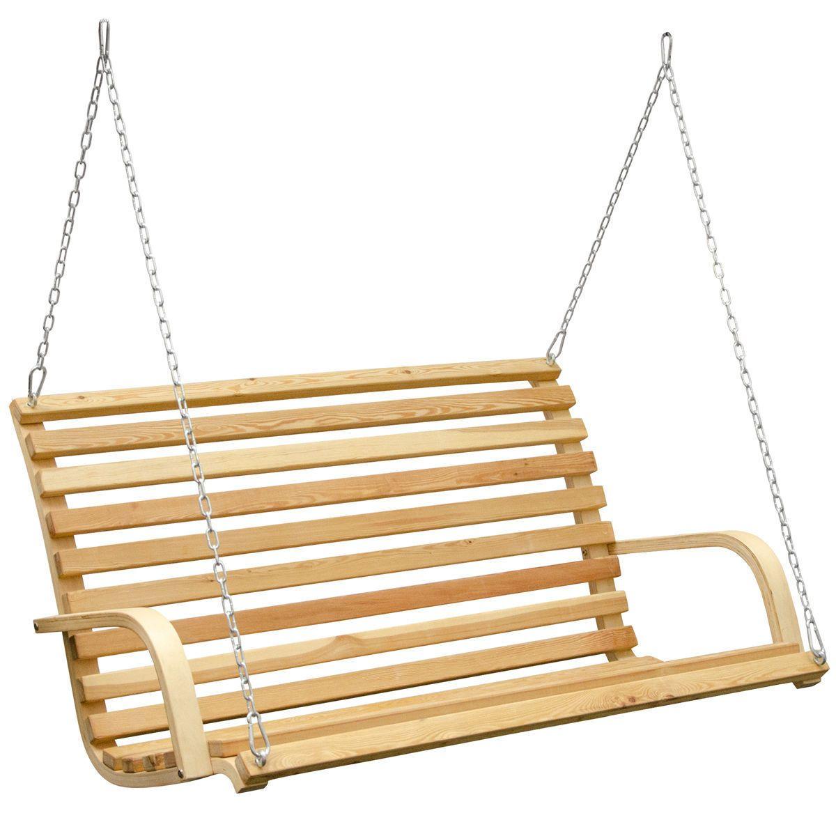 Gartenschaukel Hollywoodschaukel Holz 3 Sitzer Gartenbank