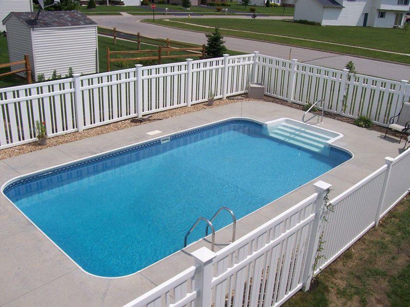 12u0027 x 24u0027 Deluxe Rectangle In Ground Swimming Pool Kit - 2u0027 ft