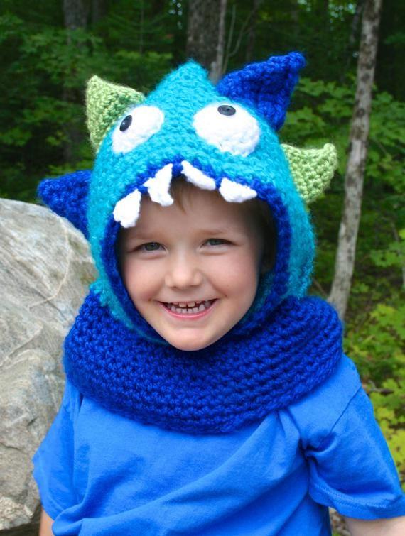 184c0fd7037 Fox Monster and Bear Hooded Cowl Crochet PATTERN Bundle - CROCHET PATTERN -  Hooded Cowls