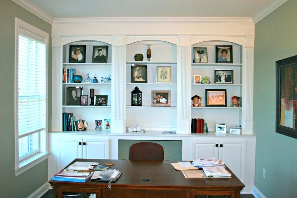 Astounding Built In Office Hidden Built In Office Cabinets Home Office Interior Design Ideas Lukepblogthenellocom