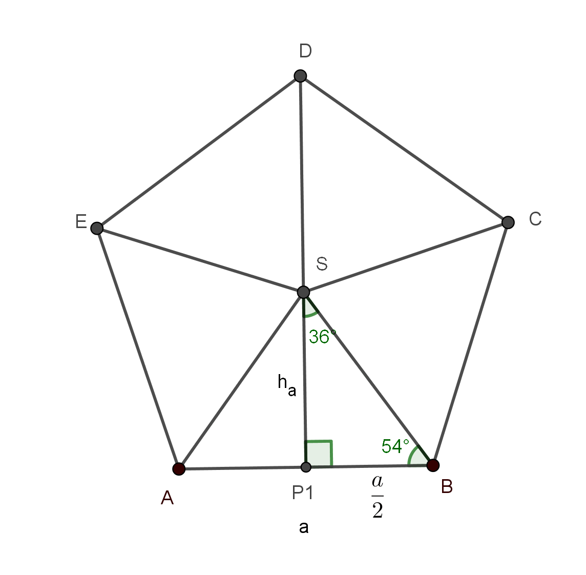 Angles Areas And Diagonals Of Regular Polygons In