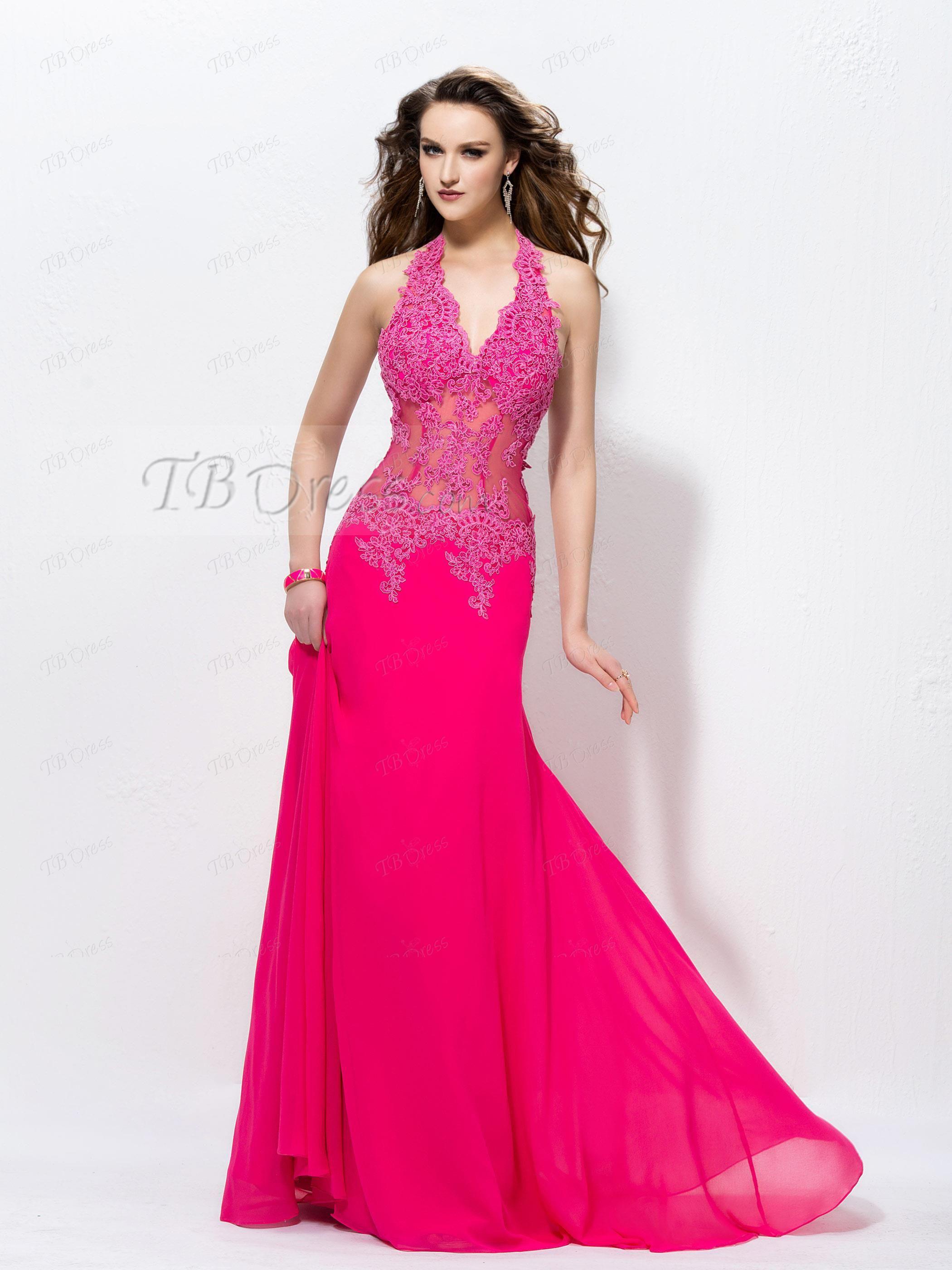 A Line Halter Backless Appliques Floor Length Evening Dress Evening Gowns Elegant Evening Dress Floor Length Floor Length Prom Dresses [ 2800 x 2100 Pixel ]