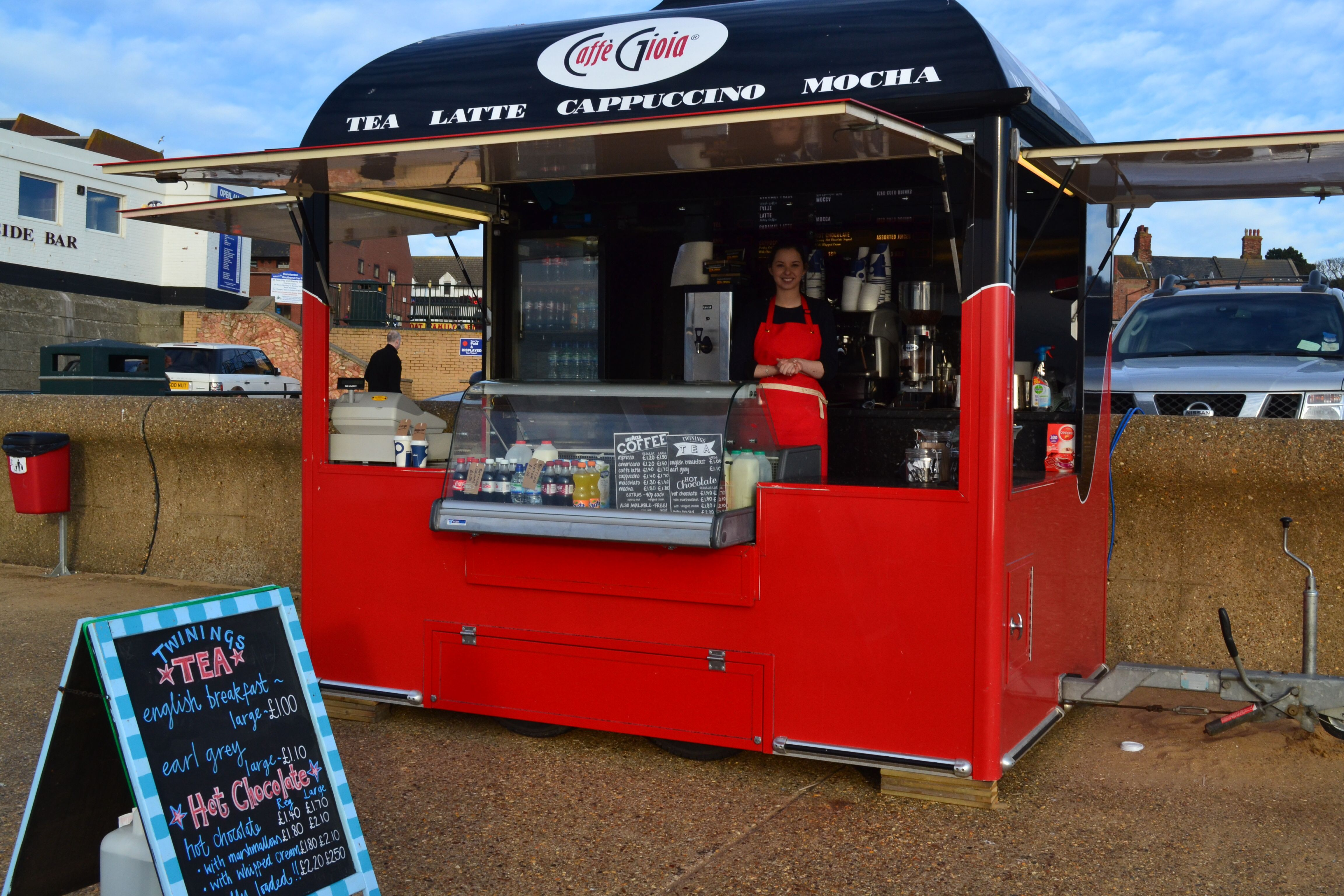 Our beautiful kiosk located on Hunstanton (Norfolk, UK