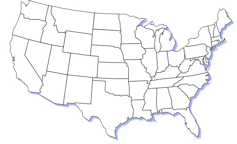 Blank Us Map Blank Us Map Of Western States Hllo Thempfa With 760 X