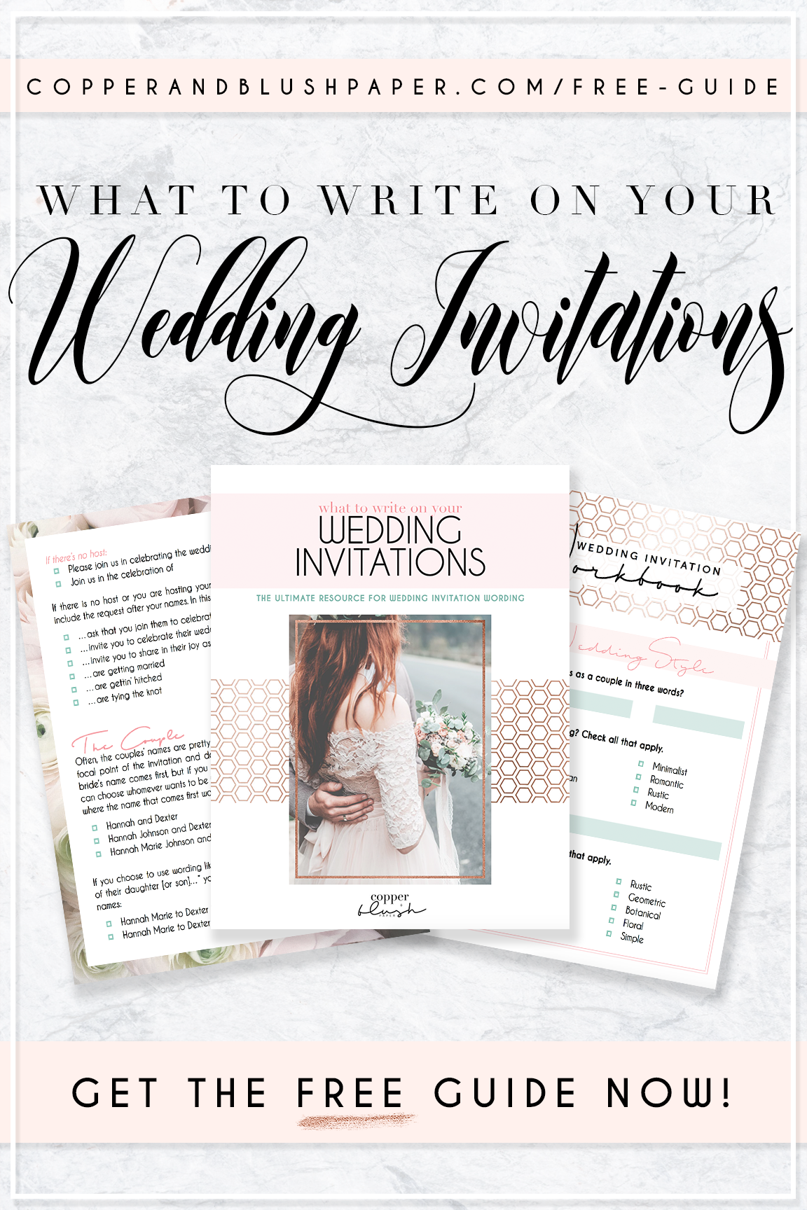 Your wedding invitation wording tells your guests what to