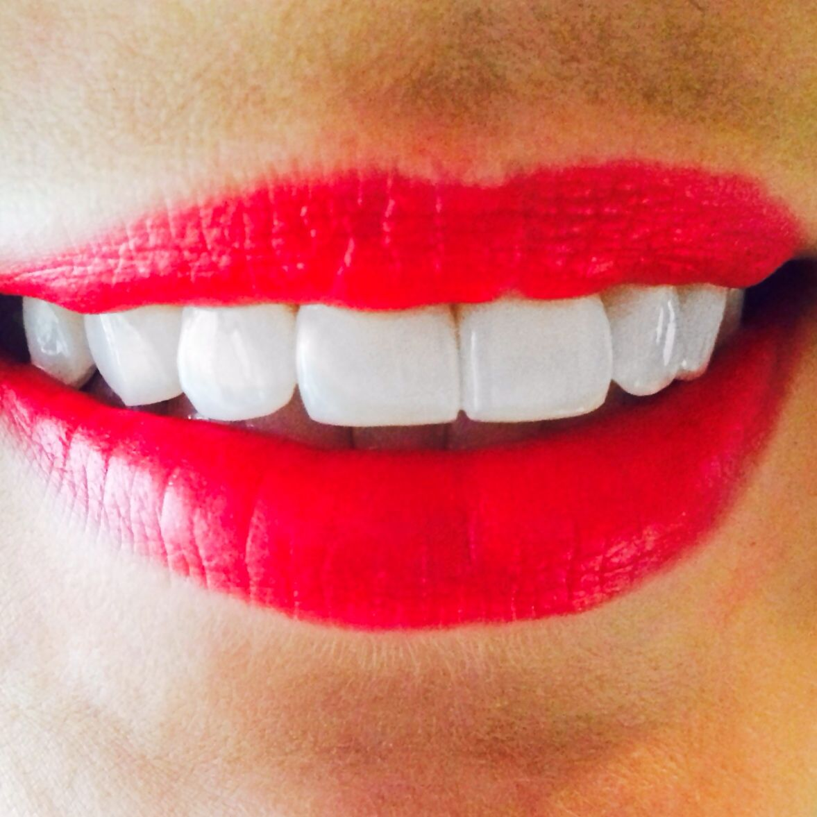 Matte Red Lips White Teeth Perfect Teeth Matte Red Lips