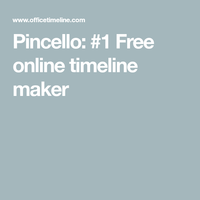 pincello 1 free online timeline maker cv pinterest online