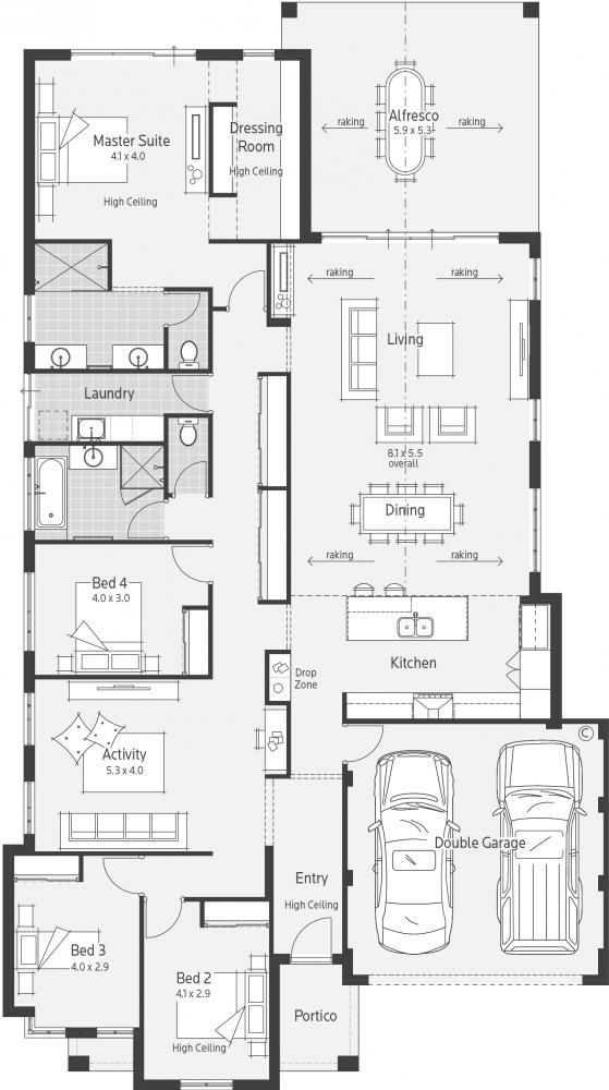 Wisteria Display Home - Lifestyle Floor Plan | Drawing | Pinterest ...