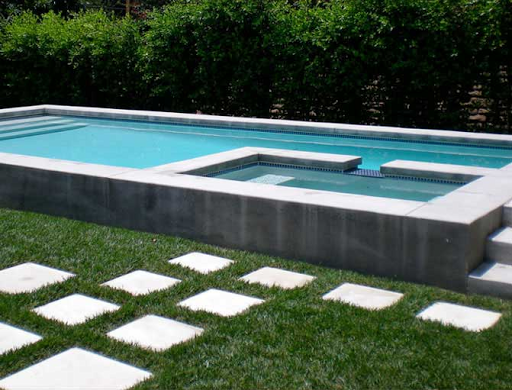 Partially above ground concrete pool backyard deck pool in 2019 concrete pool modern pools - Modern above ground pools ...