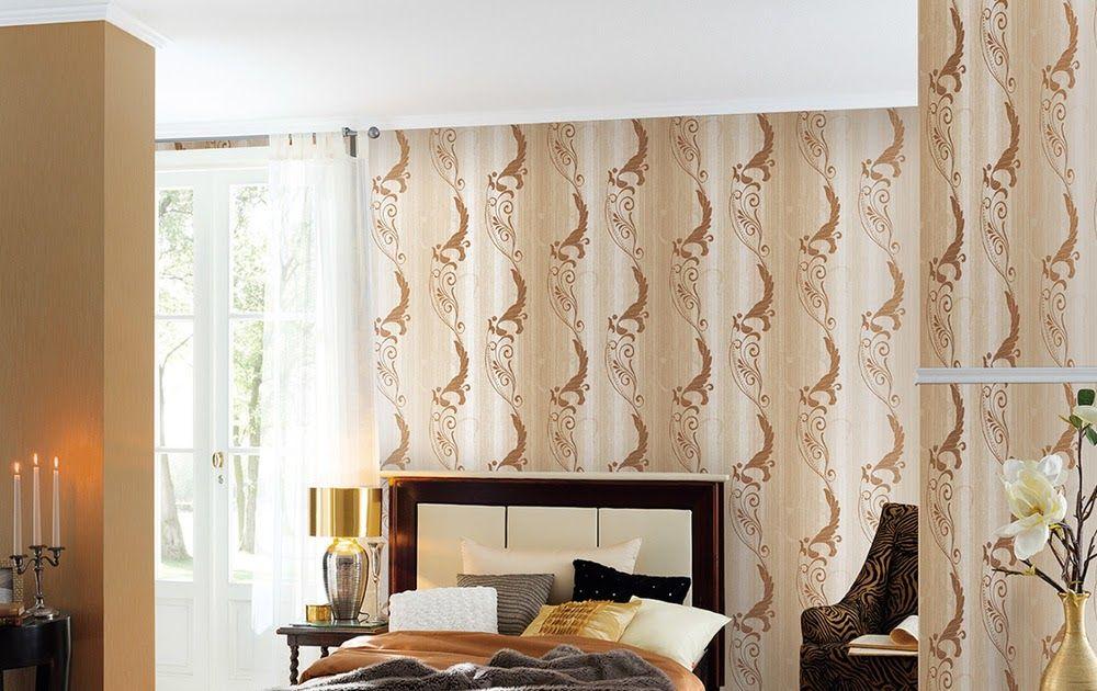 Motif Wallpaper Dinding Kamar Tidur Romantis