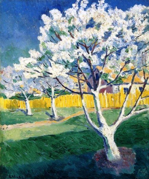Pierre-Jean Maurel - wetreesinart:  Kazimir Malevich (Rus. 1879-1935) Apple Trees in...