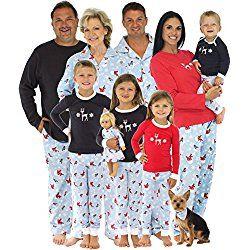 Family Christmas Pajamas Including Dog.Sleepytimepjs Dog Cat Bandana Family Including Dog