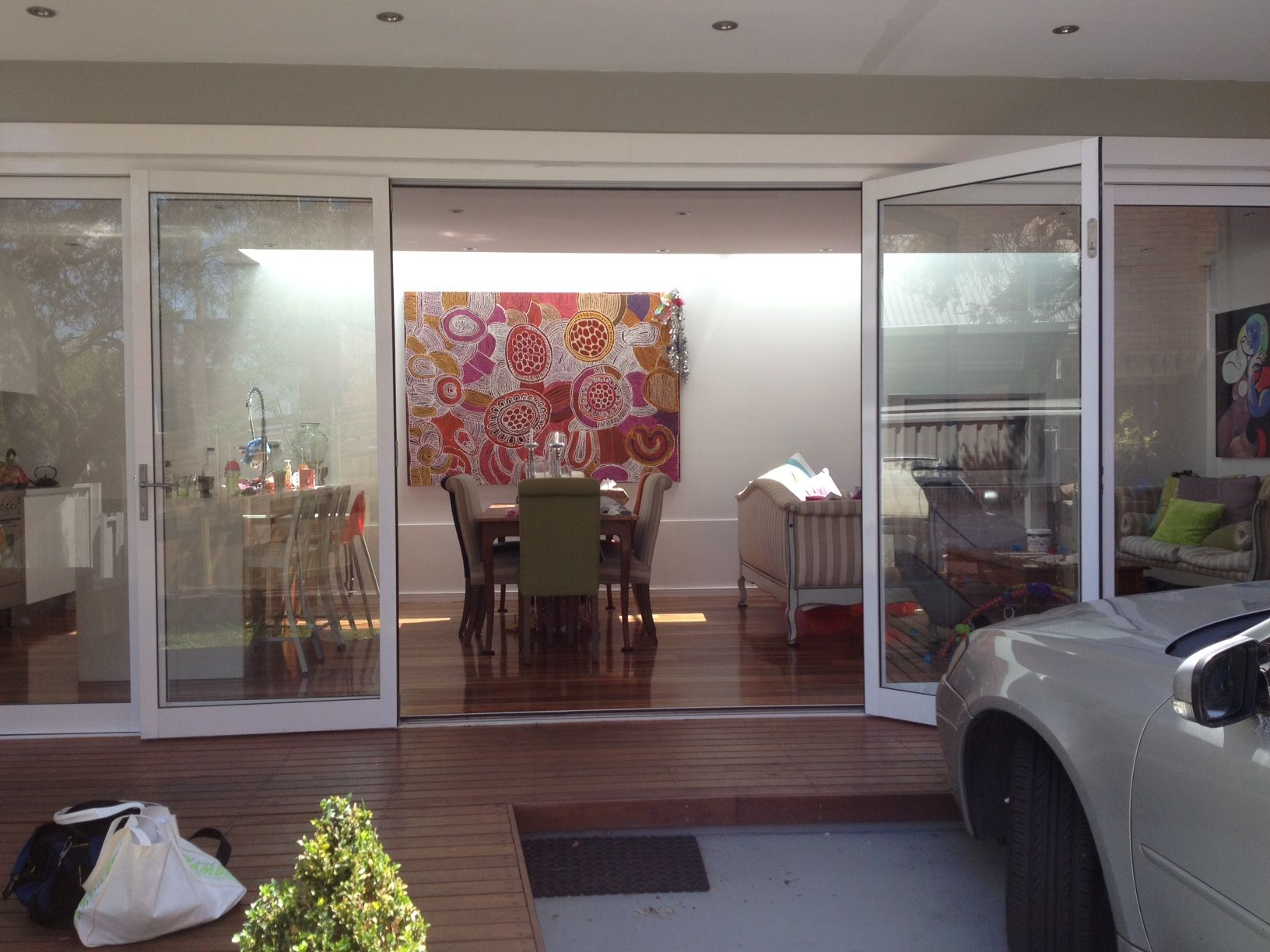 Energy And Vitality In Statement Piece With Elegant Furnishings. Aboriginal Art Home