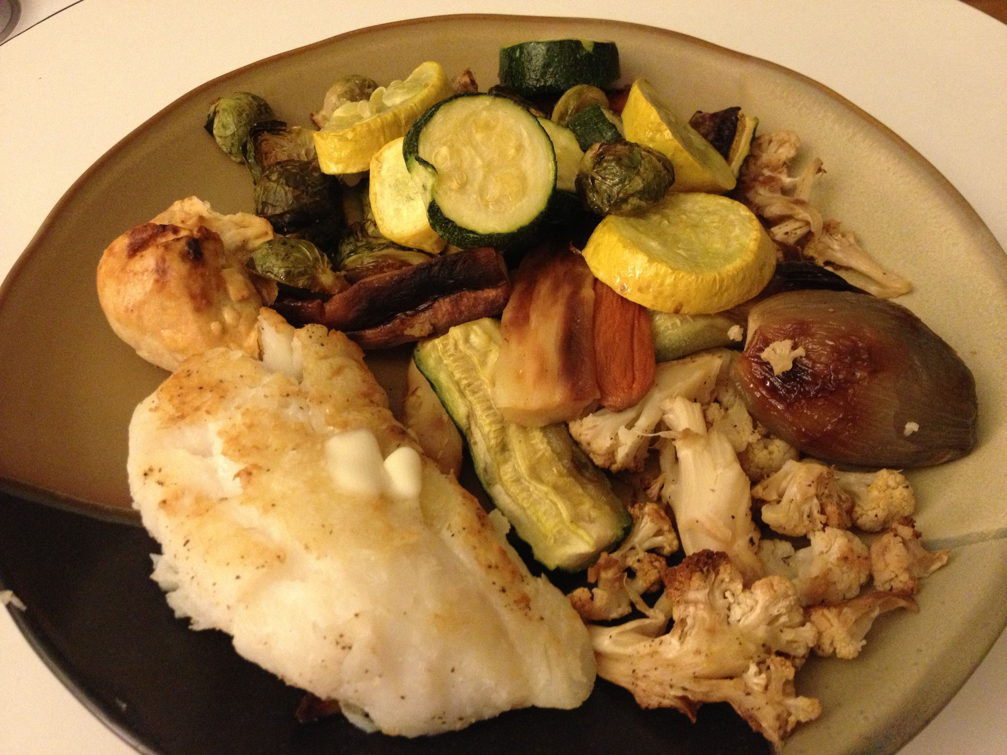 Cod and roasted veg
