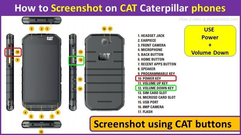 How To Take Screenshot On Cat Caterpillar Phones Cat S30