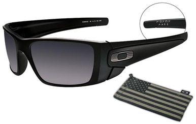 Oakley SI Fuel Cell with Matte Black Frame, Steel Flag Logo and Black  Iridium Lenses 64759eaf475a
