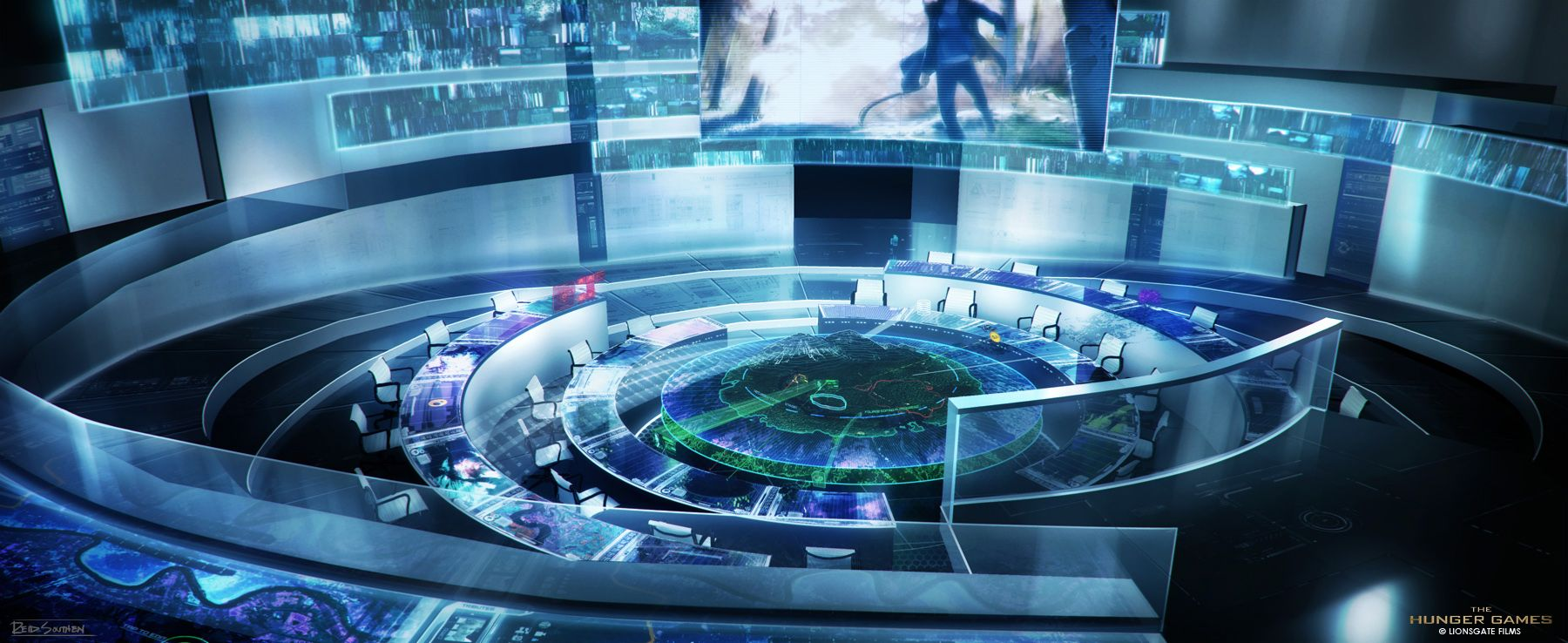 Hunger Games - Control Room by `Rahll on deviantART