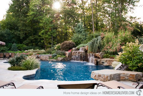 Swimming pool garden design  15 Pool Landscape Design Ideas | Landscape designs, Backyard and ...