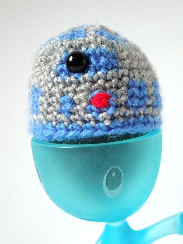 Free Amigurumi Pattern R2D2 Egg Cozy 2 | Stuff Paris likes | Pinterest