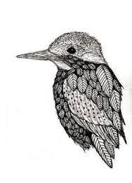 Stylised Kingfisher Tattoos Bird Drawings Kingfisher Bird Cute