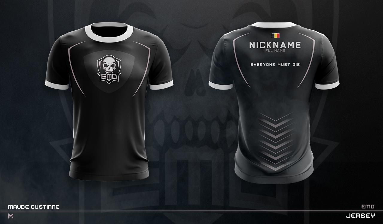 Jersey Esport Team Mockup On Behance Sport Shirt Design Jersey Design Sports Shirts