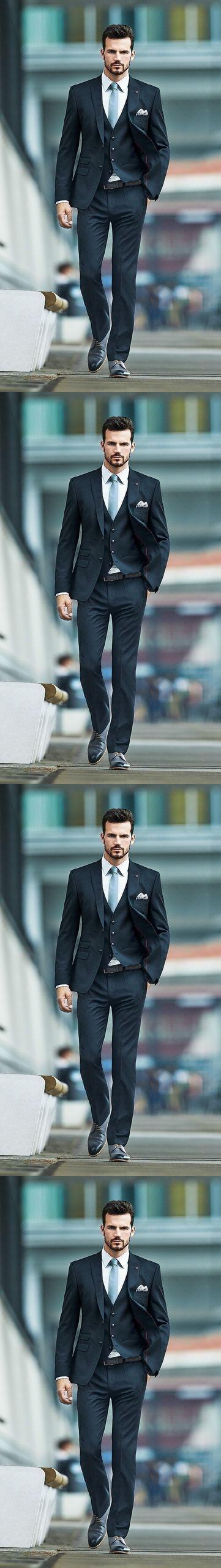 Jacket+Pants+Vest+Tie) 2017 Custom Slim Men Suits Handmade New ...