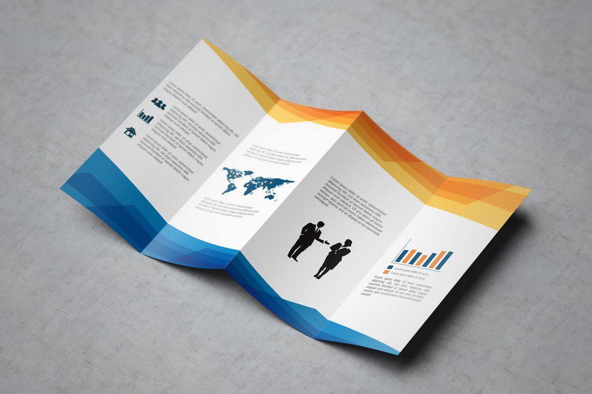 Double Gatefold Brochure Mock Up Brochure Size Print Templates Postcard Mockup