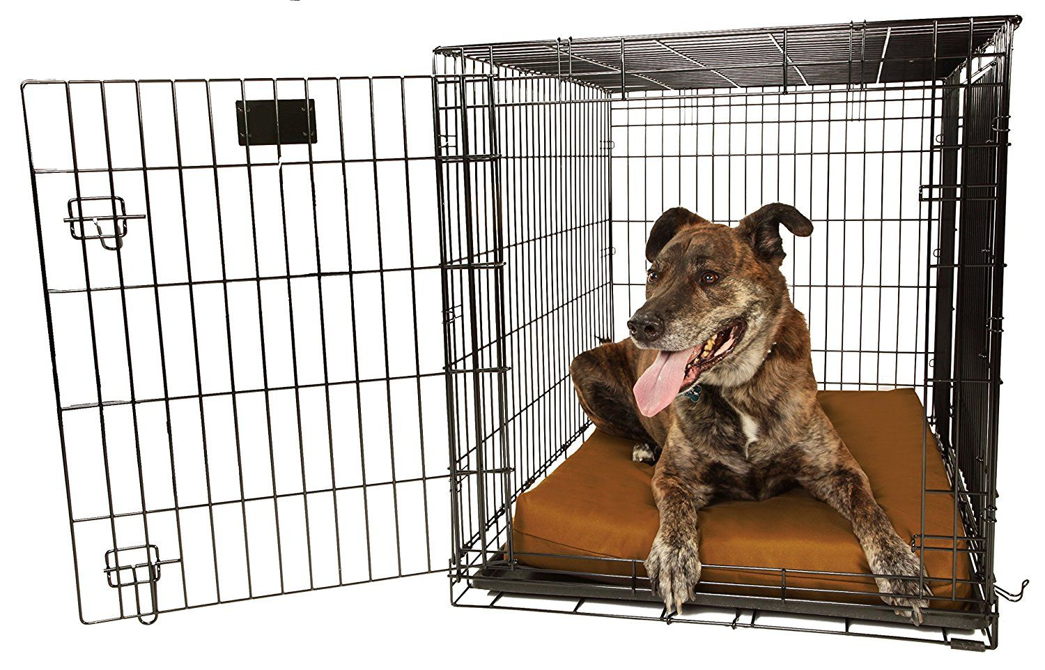 Orthopedic 4' Dog Crate Pad by Big Barker. Waterproof and