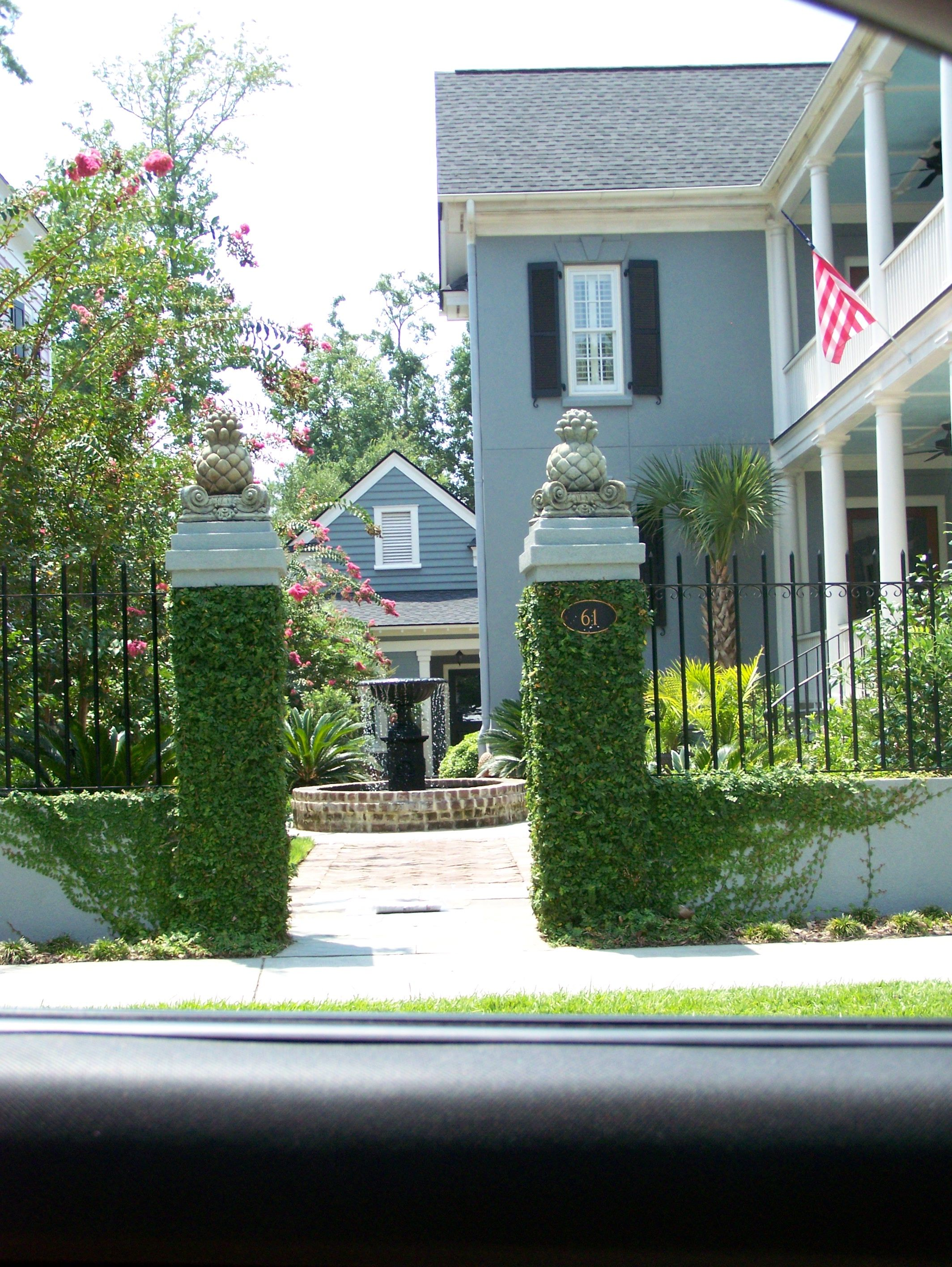 Mt Pleasant Sc Ion Courtyard Ivy Exterior Entry Coastal Cottage House Styles Cottage