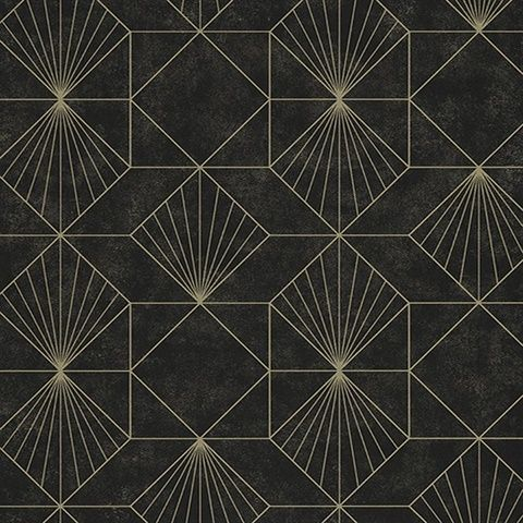 366073 Halcyon Black Geometric Wallpaper Black Wallpaper