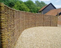 Curved Woven Fence Http Www Peterdibble Co Uk Images Fence Jpg