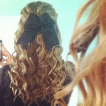 Curly Cheerleader Hair I Want To Be Able To Do Our Hair Like This