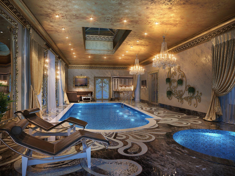 бассейн в коттедже дизайн фото могу найти тему