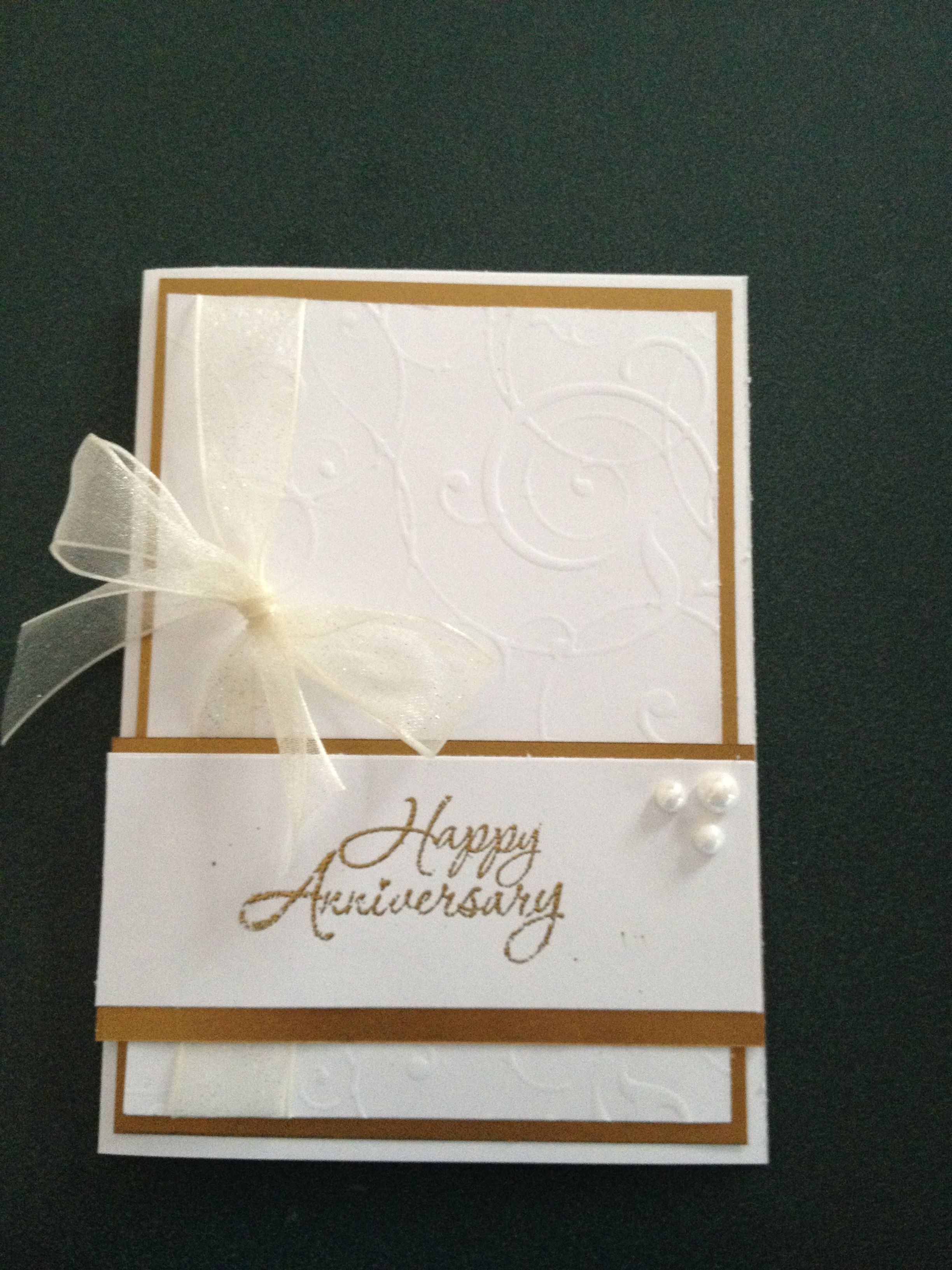 Pin By Patricia Dunn On Stamping 50th Anniversary Cards Anniversary Cards Handmade Wedding Anniversary Cards