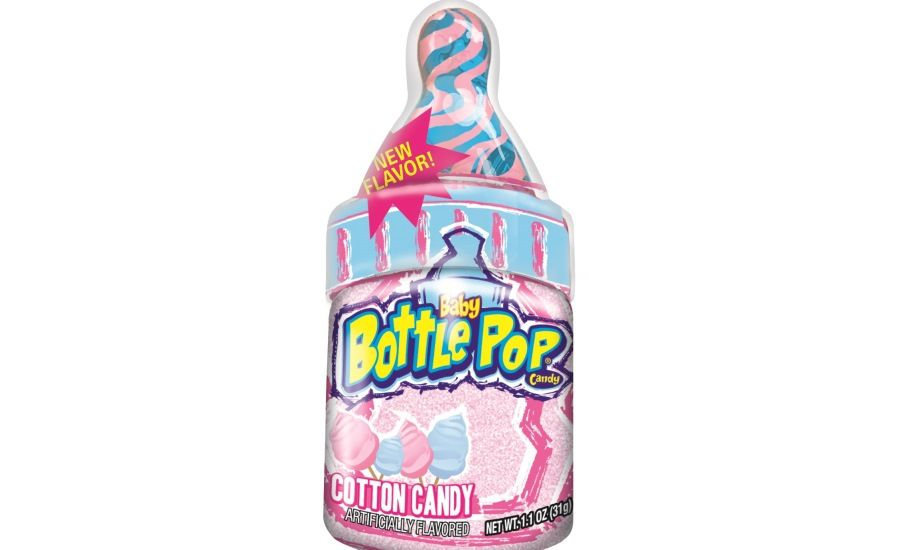 Bazooka S New Cotton Candy Flavored Baby Bottle Pops Baby Bottles Cotton Candy Cotton Candy Flavoring