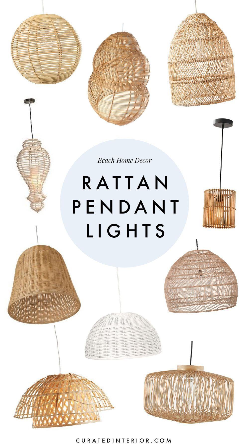 10 Rattan Pendant Lights For Your Beach Home Rattan Pendant Light Tropical Home Decor Pendant Lighting