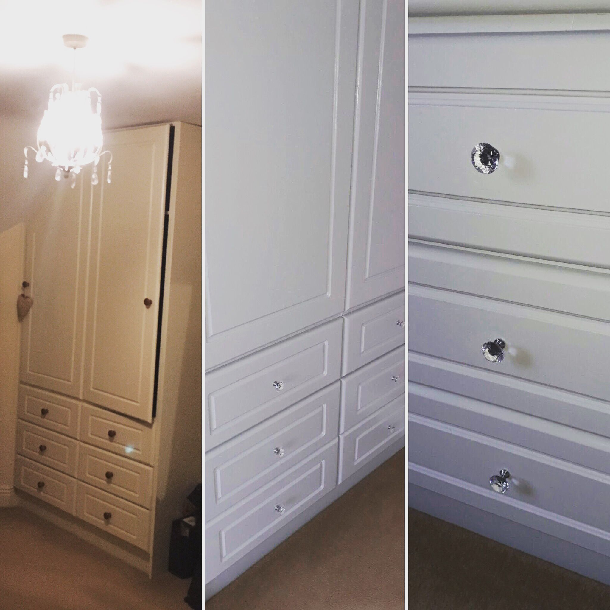 Updated Bedroom Wardrobes Using Dulux Satinwood Apron Grey Love This Colour Also Changed Doorknobs Really Pleased Dulux Dulux Satinwood Bedroom Makeover